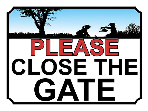 Please Close The Gate Children In Garden Theme Yard Sign Garden