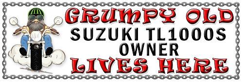 Grumpy Old Suzuki TL1000S Owner,  Humorous metal Plaque 267mm x 88mm