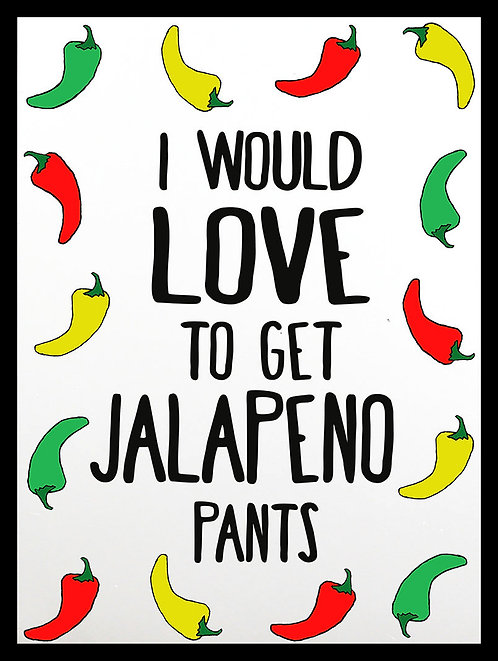 Jalapeno Pants, Retro Metal Sign / Fridge Magnet Pub Bar Man Cave