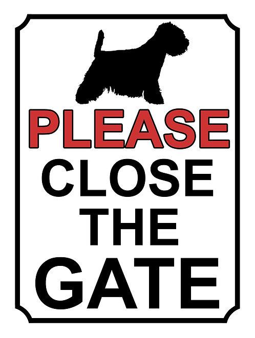 Please Close The Gate Dog Silhouette Theme Yard Sign Garden