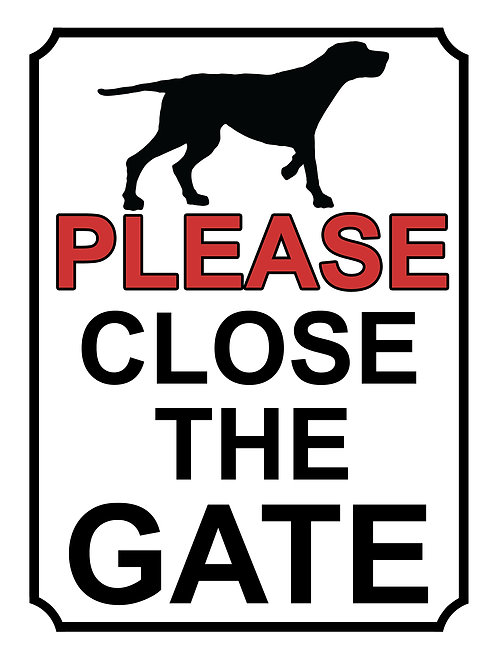 Please Close The Gate Dog Sihouette Theme Yard Sign Garden