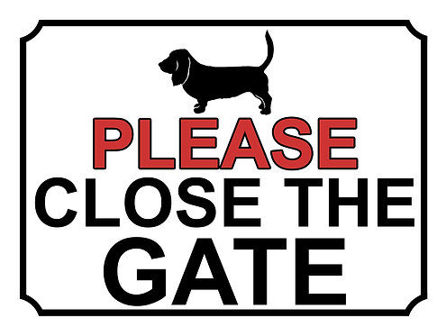 Please Close The Gate Dog Silhouette Theme Yard Sign Garden
