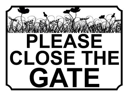 Please Close The Gate Flower Field Theme Yard Sign Garden