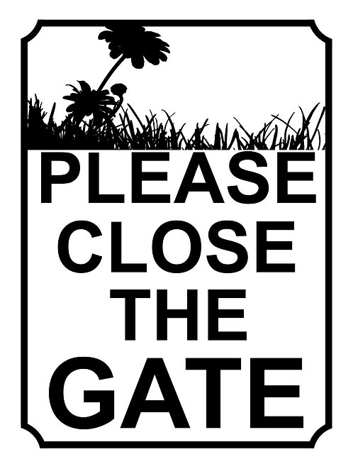 Please Close The Gate Sun Flower Theme Yard Sign Garden