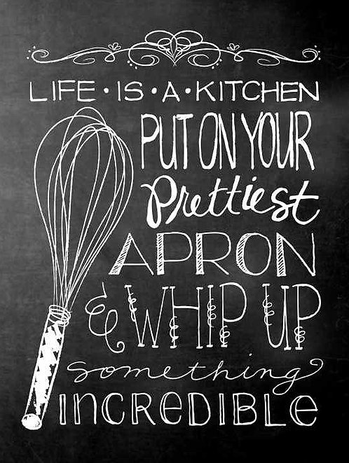 Life Is Like A Kitchen, Retro Metal Sign / Fridge Magnet Pub Bar Man Cave