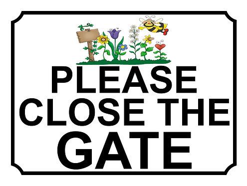 Please Close The Gate Garden Theme Yard Sign Garden
