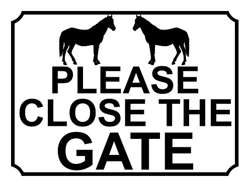 Please Close The Gate Horses Theme Yard Sign Garden