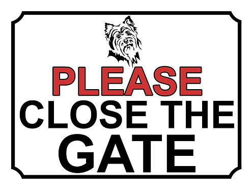 Please Close The Gate Dog Breed Terrier Theme Yard Sign Garden
