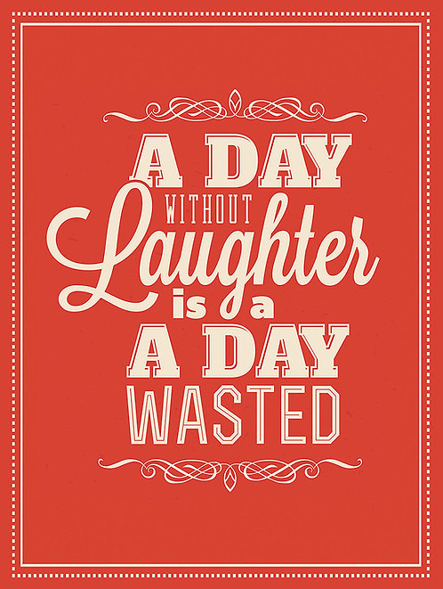 A Day Without Laughter, Retro Metal Sign / Fridge Magnet Pub Bar Man Cave