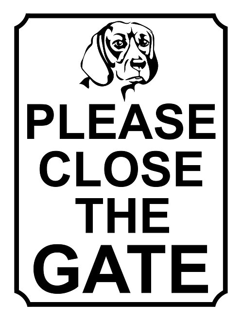 Please Close The Gate Dog Breed Theme Yard Sign Garden