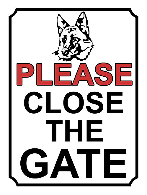 Please Close The Gate German Shepherd Theme Yard Sign Garden
