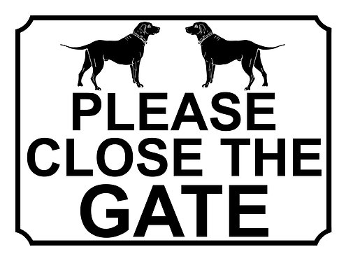 Please Close The Gate Dogs Theme Yard Sign Garden