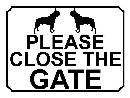 Please Close The Gate Dog Breed Pug Theme Yard Sign Garden
