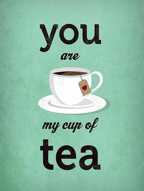 Your My Cup Of Tea, Retro Metal Sign / Fridge Magnet Pub Bar Man Cave