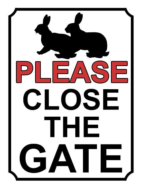 Please Close The Gate Rabbits Theme Yard Sign Garden