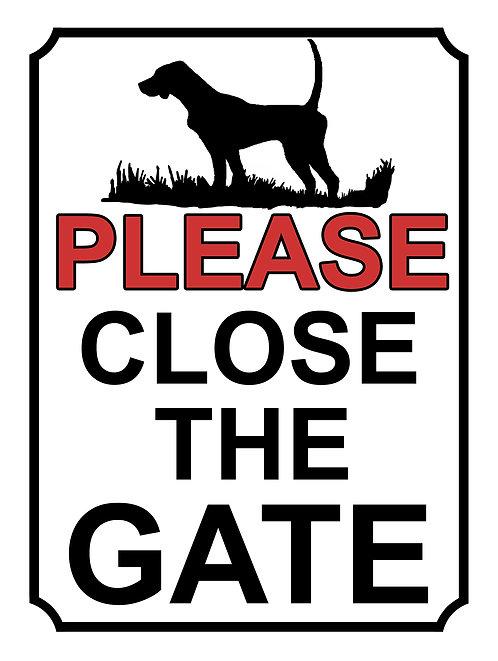 Please Close The Gate Dog Theme Yard Sign Garden Fence