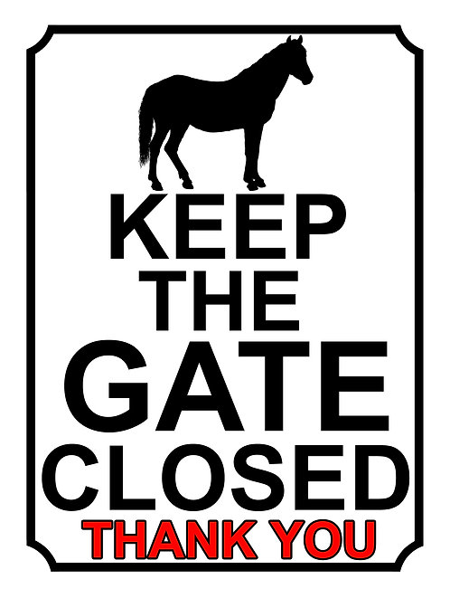 Keep The Gate Closed Thankyou Horse Theme Yard Sign Garden