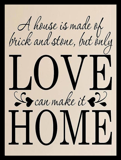 Love Makes Home, Retro Metal Sign / Fridge Magnet Pub Bar Man Cave
