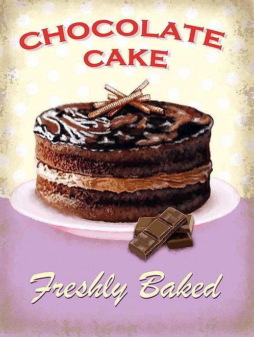 Chocolate Cake, Retro Metal Sign / Fridge Magnet Pub Bar Man Cave