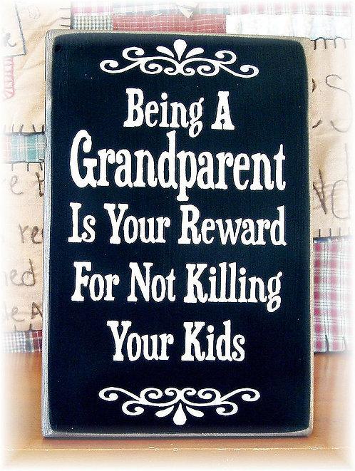 Being a Grandparent, Retro Metal Sign / Fridge Magnet Pub Bar Man Cave
