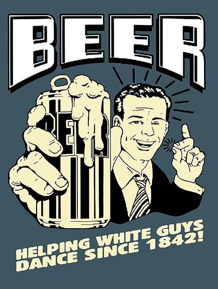 Beer Joke Funny, Retro Metal Sign / Fridge Magnet Bar Man Cave