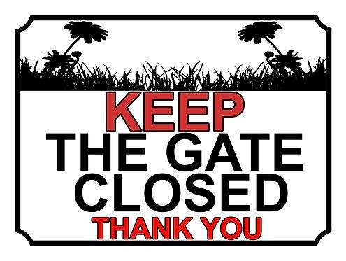 Keep The Gate Closed Thankyou Sun Flower Field Theme Yard Sign Garden
