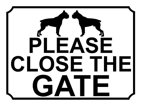 Please Close The Gate Dog Silhouette Pug  Theme Yard Sign Garden