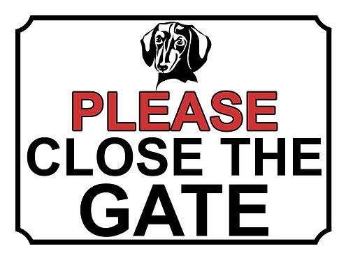 Please Close The Gate Dog Breed Dachshund Theme Yard Sign Garden