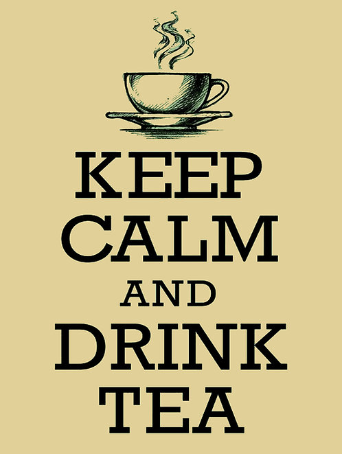 Keep Calm Drink Tea, Retro Metal Sign / Fridge Magnet Pub Bar Man Cave