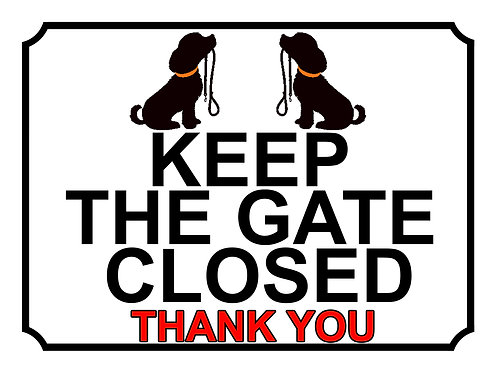 Keep The Gate Closed Thankyou Dog With Lead Theme Yard Sign Garden