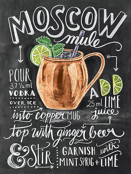Moscow Mule, Retro Metal Sign / Fridge Magnet Pub Bar Man Cave