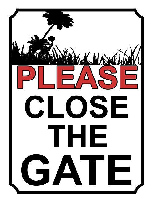 Please Close The Gate Sun Flower Theme Yard Sign Garden