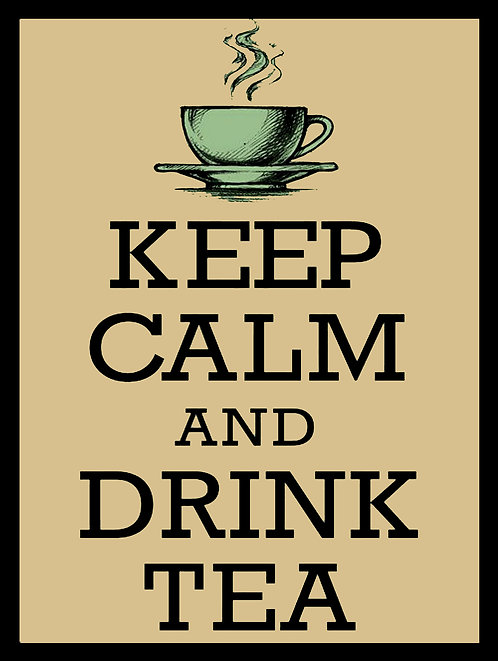 Keep Calm Drink Tea, Retro Metal Sign / Fridge Magnet Pub Bar Man Cave
