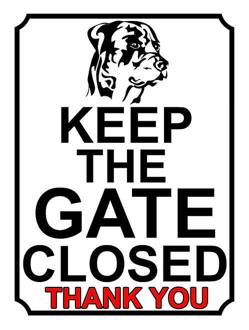 Keep The Gate Closed Thankyou Dog Breed Boxer Theme Yard Sign Garden