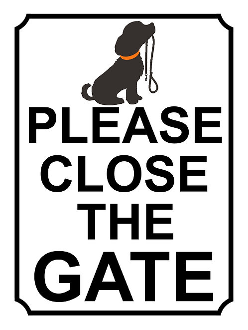 Please Close The Gate Dog Lead Theme Yard Sign Garden 35H1