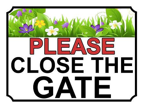 Please Close The Gate Garden Plants Theme Yard Sign Garden