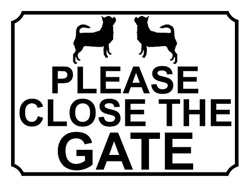 Please Close The Gate Dog Breed Pug Theme Yard Sign Garden