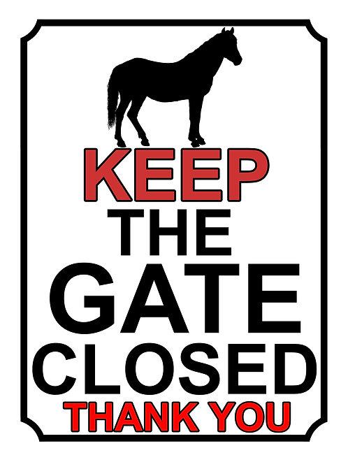 Keep The Gate Closed Thankyou Horse Theme Yard Sign Garden