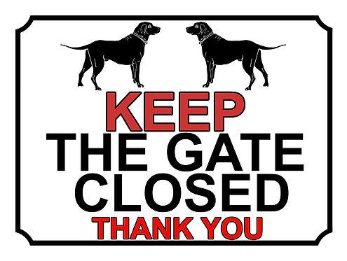 Keep The Gate Closed Thankyou Labrador Theme Yard Sign Garden