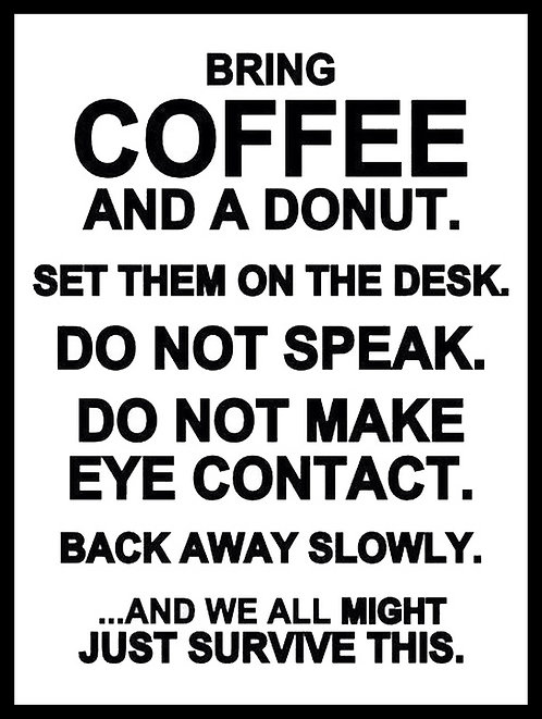 Coffee and a Donut, Retro Metal Sign / Fridge Magnet Pub Bar Man Cave