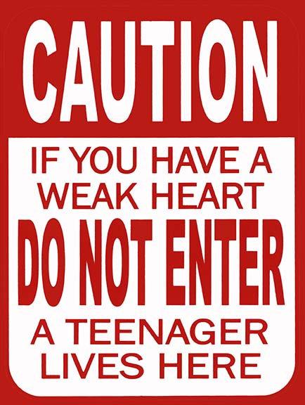 Caution Do Not Enter Funny, Retro Metal Sign / Fridge Magnet Novelty Gift