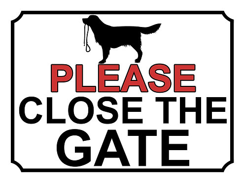 Please Close The Gate Dog With Lead Theme Yard Sign Garden