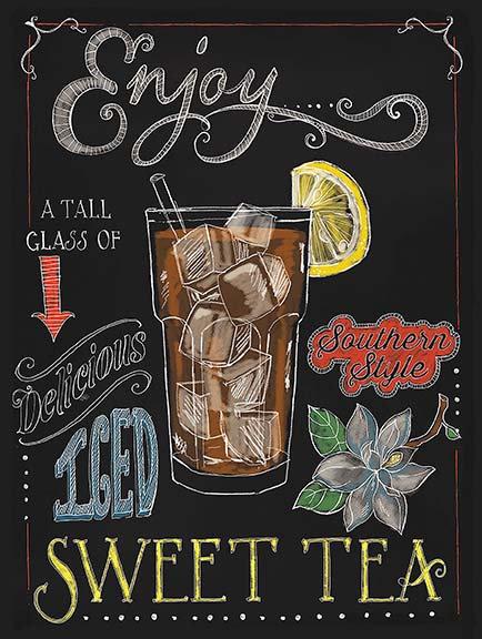 Enjoy Sweet Tea, Retro Metal Sign / Fridge Magnet Bar Pub Cocktail