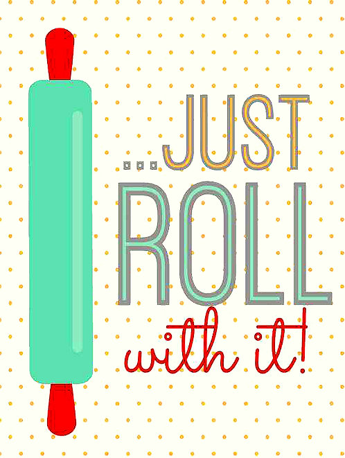Just Roll with it, Retro Metal Sign / Fridge Magnet Pub Bar Man Cave