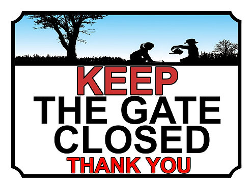 Keep The Gate Closed Thankyou Children In Garden Theme Yard Sign Garden
