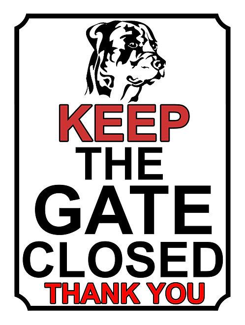 Keep The Gate Closed Thankyou Dog Breed Boxer Theme Yard Sign Garden