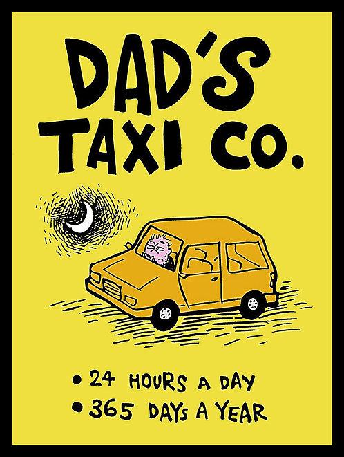 Dad's Taxi , Retro Metal Sign / Fridge Magnet Pub Bar Man Cave