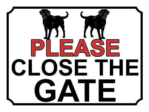 Please Close The Gate Labrador Theme Yard Sign Garden