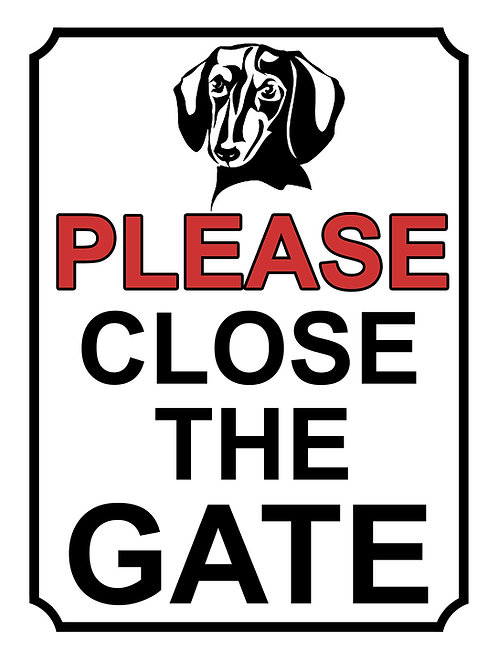 Please Close The Gate Dachshund Theme Yard Sign Garden