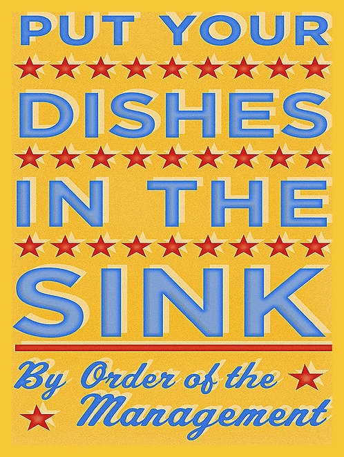 Dishes In The Sink, Retro Metal Sign / Fridge Magnet Pub Bar Man Cave